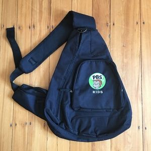RARE NEW Curious George/PBSKids Crossbody Backpack